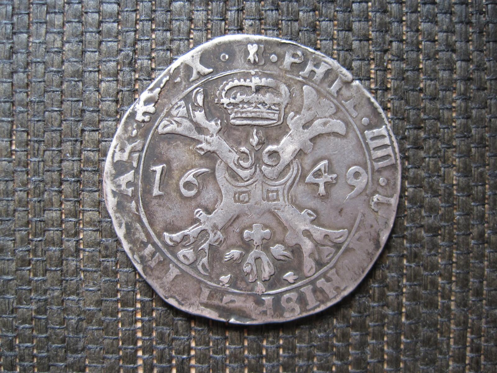 1/2 Patagón de 1649. Felipe IV. Señorío de Tournai 9k6x7c