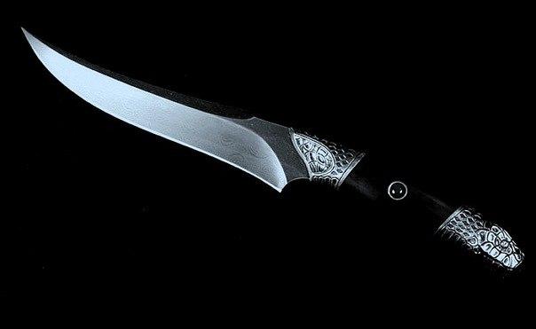 """Ритуальный нож с черной ручкой Athame(Пол Хассон """"Искусство Колдовства""""). Ae2ywi"""