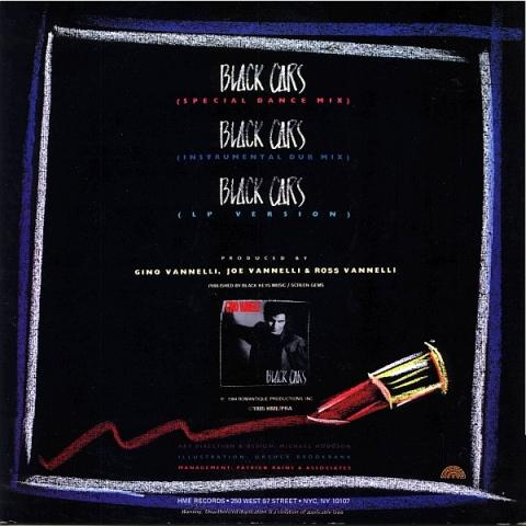 Gino Vannelli - Black Cars (Vinyl 12'') Ao046