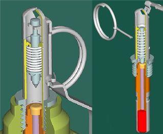 Ручная противопехотная оборонительная граната Ф-1 (макет массо-габаритный). Aonmnq