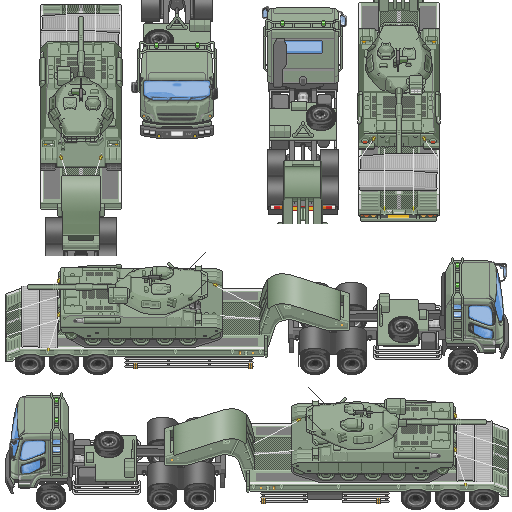 Tilesets de Guerra Moderna: Vehículos Terrestres J923ya
