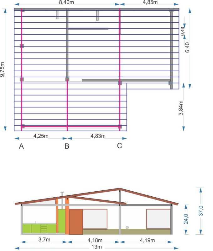 Construcción de techado con perfiles C - Nueva consulta M9qgqb