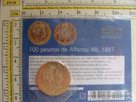 Ayuda reproducción 100 pesetas Alfonso XIII 1897 Smvp07