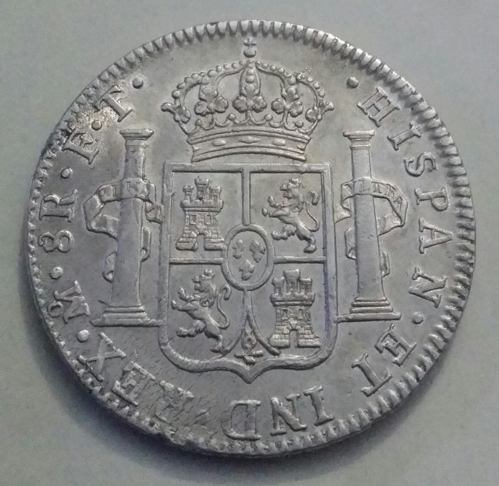8 Reales Carolus IIII 1803 México FT Tamnw8