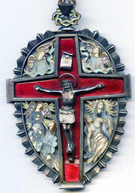 Medallón esmaltado Portantes del Sto. Cristo de Barcelona - s- XX ( R.M.  ) Zunxqb