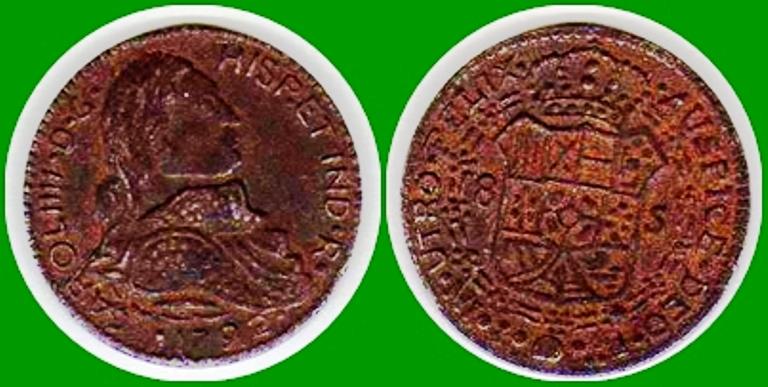 Jeton de Carlos IIII  (Carol IIII -D-G  HISP.ET.IND.R. 1792) 11aaic2