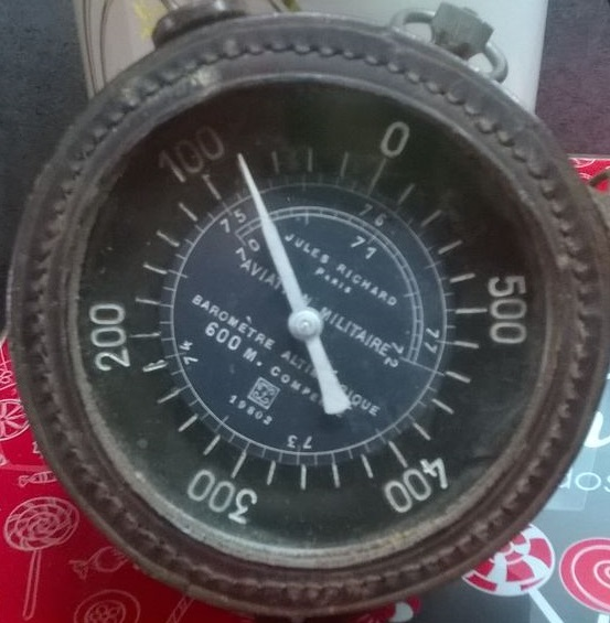 """aviation /ancien altimètre 14/18  """"Jules Richard""""  11jq53t"""