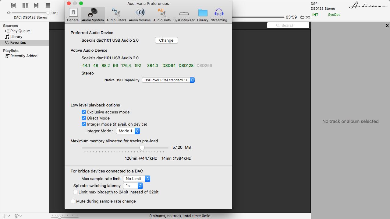 Reproducción de archivos DSD 15ft57a