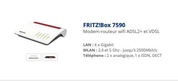 FRITZ! box 7590 da 6.92 tedesco a 6.98 internazionale 24v8dg1