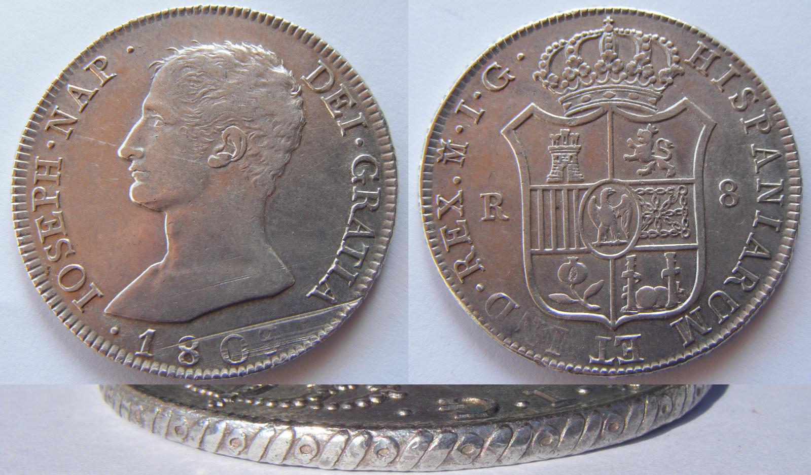 8 Reales 1809. José Napoleón. Madrid IG 29eksqx
