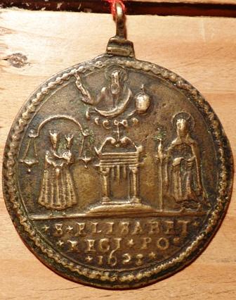 Medalla Isabel de Portugal / Crucifixión - Jubileo 1625 (R.M. SXVII-C33 bronce) 2cqiosz