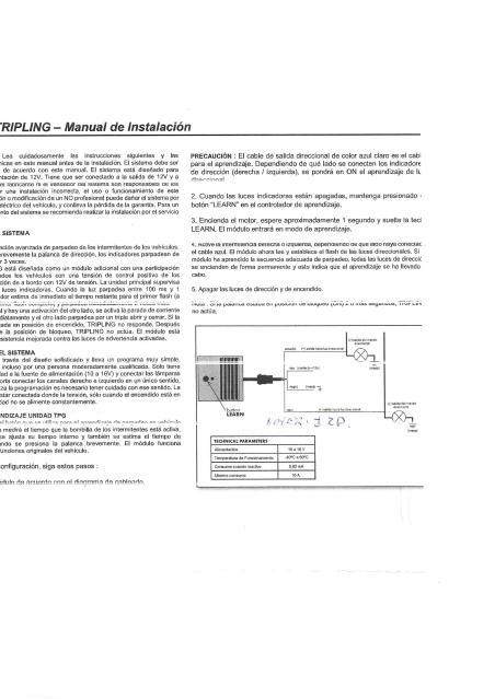 MODULO CONFORT UNIVERSAL.3 DESTELLOS AUTOMATICOS EN LOS INTERMITENTES DEL COCHE 2dqm4w8