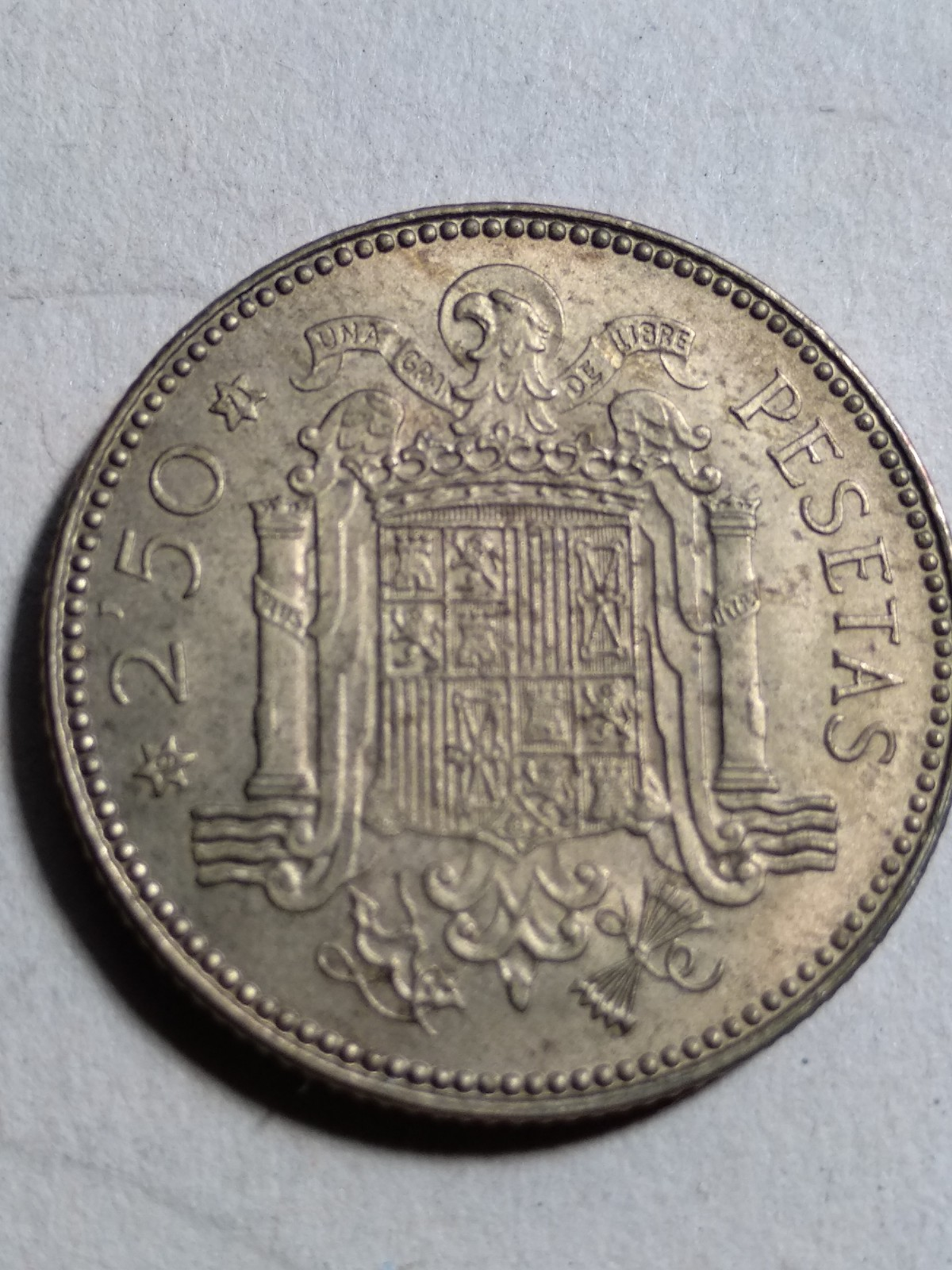 2,50 pesetas (*19-71). Estado Español. Procedente de la tira 2hocvid