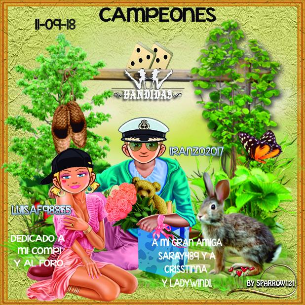11/09/18 CAMPEONES:IRANZO2017 Y LUISAF98855 - SUBCAMPEONES:CHANCLA42 Y CRISSTINNA 2i94f9z