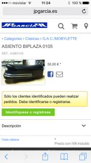 """Mobylette GAC 188 """" Super Lujo """" 2irkncy"""