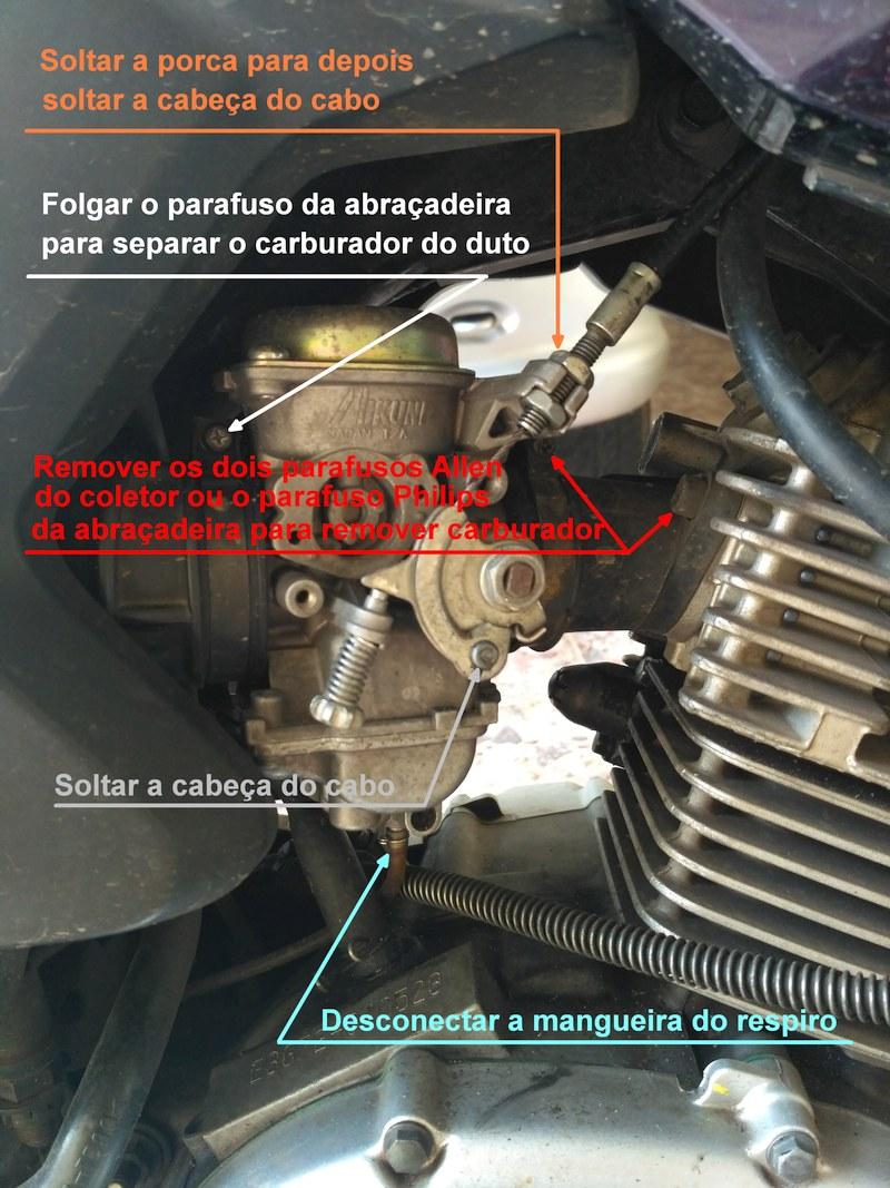 combustivel - Tutorial - Como resolver o vazamento de combustível pelo respiro do carburador na YBR 125 Factor 2mepdu1