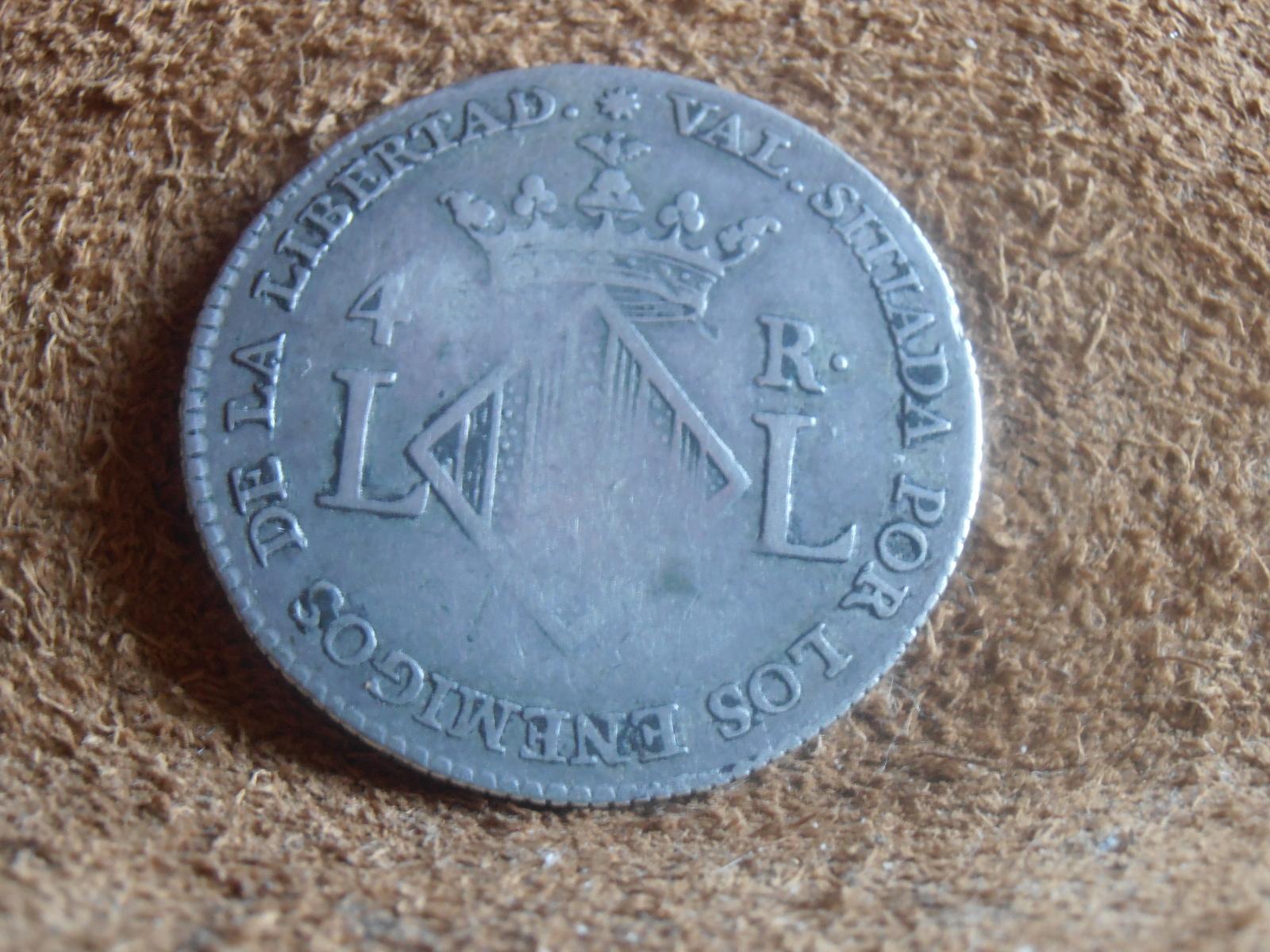 4 reales 1823. Fernando VII. Valencia (Módulo 2 reales ) 2mzedee