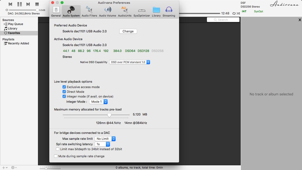 Reproducción de archivos DSD 2u5c85l