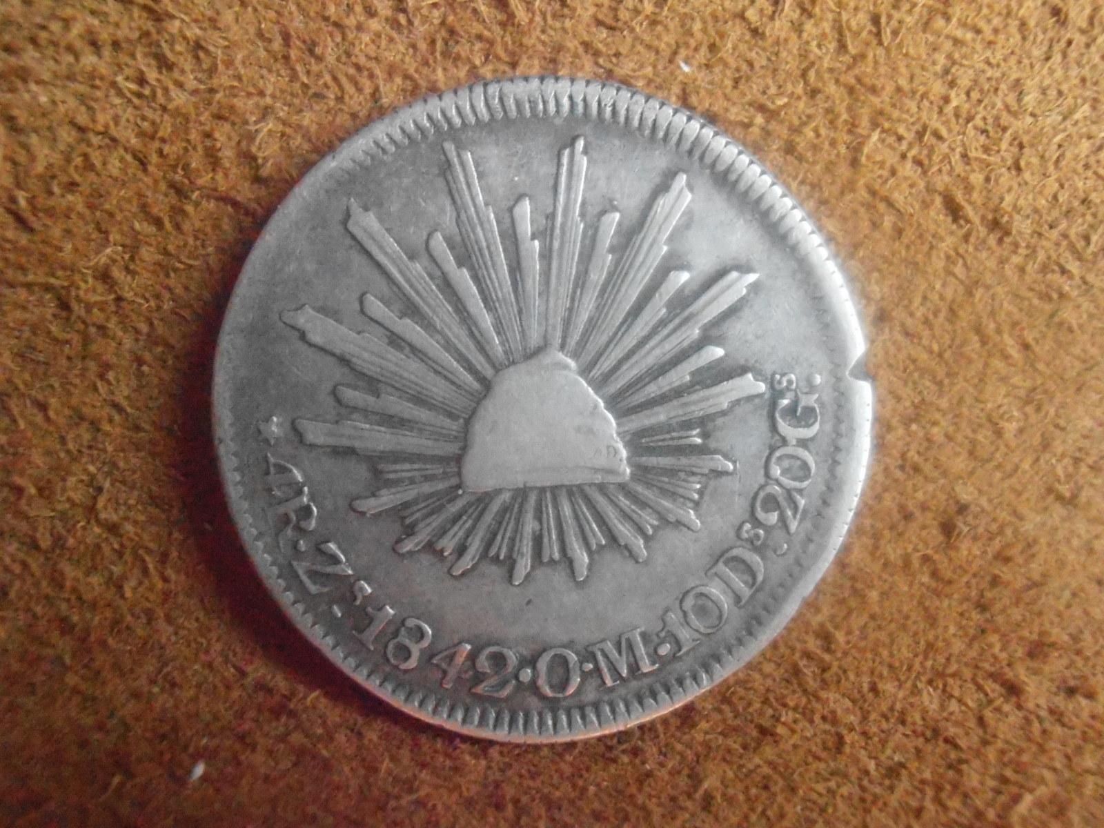 4 Reales Zacatecas 1842 2u6od3p