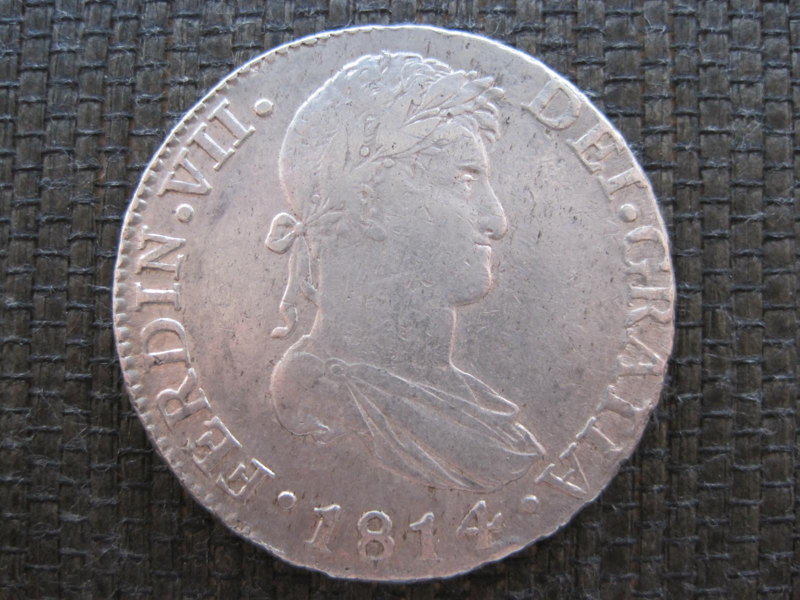 8 Reales 1814 Cádiz 2ujo4s1