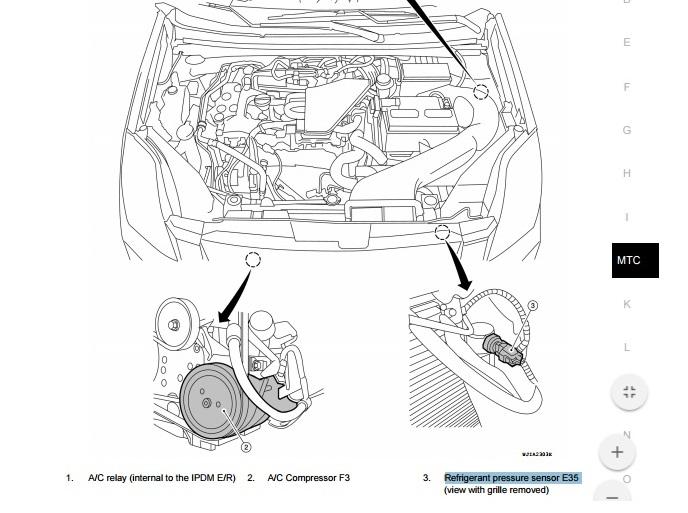 Termostato do ar condicionado Sentra B16 2v0291j