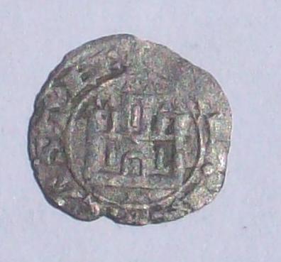 Dinero prieto de Alfonso X de Castilla 1252-1284. 2wdau02