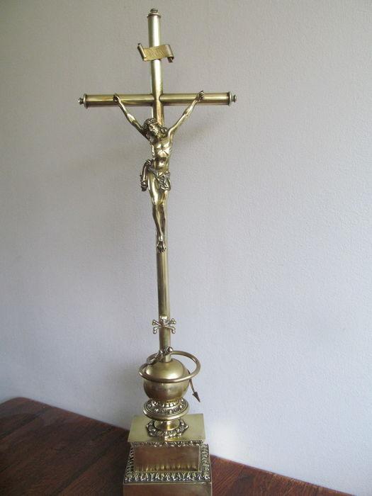 Crucifijo sobremesa bronce 34iqofk