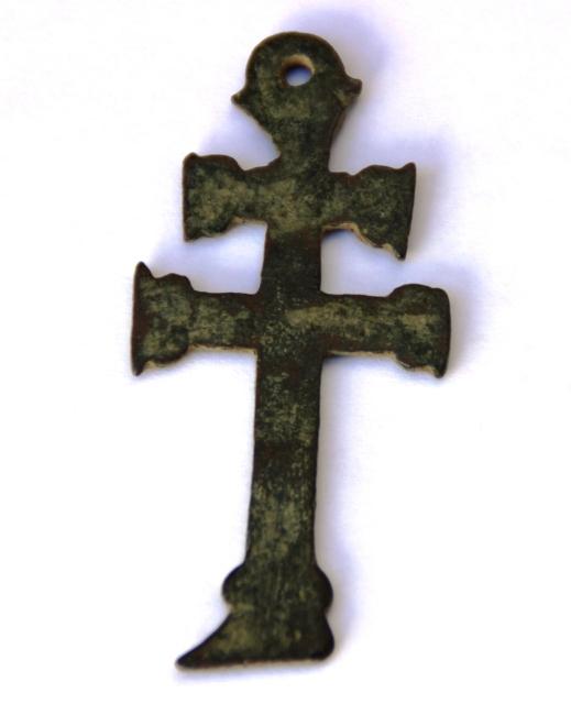 Cruz de Caravaca con  inscripción  IHS / S. MARIA, S. XVII 50sfuh