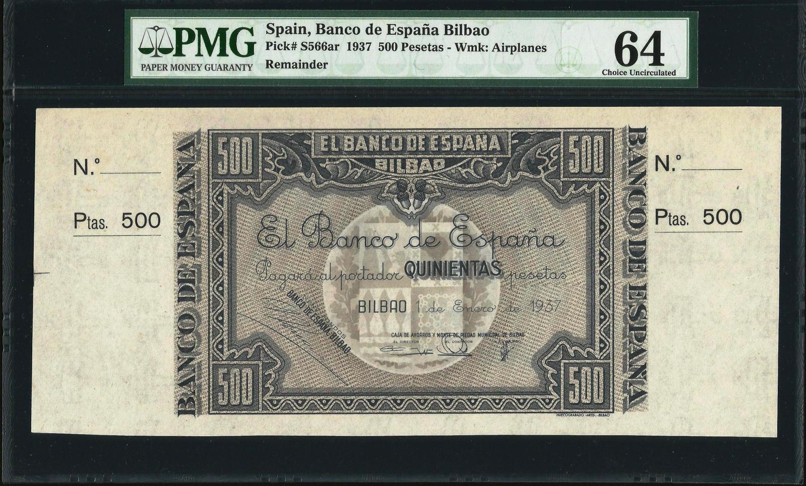 500 Pesetas Banco de España Bilbao, 1937 Ajxkki