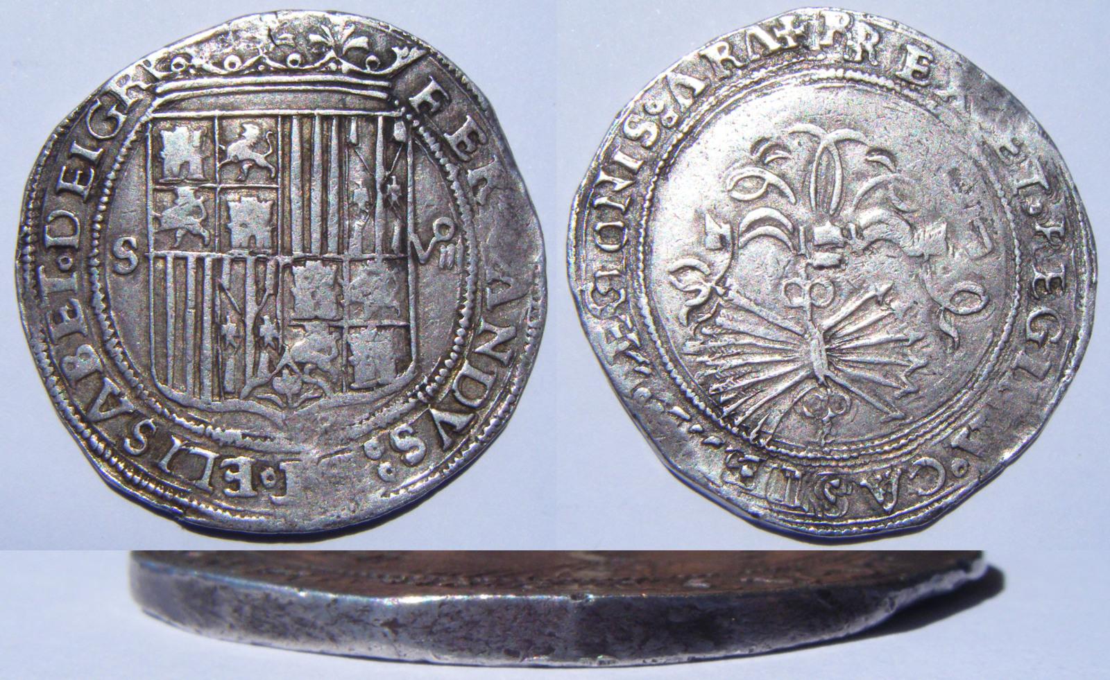 8 reales a nombre de los Reyes Católicos. Sevilla Nw9xj