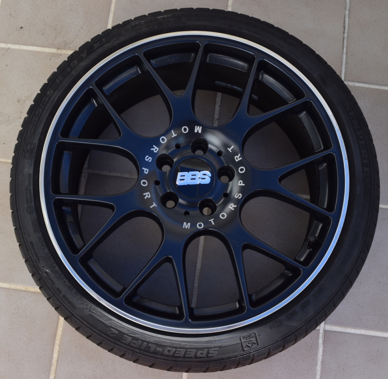 """Llantas BBS Motorsport 19"""" + neumáticos + separadores Ortspc"""