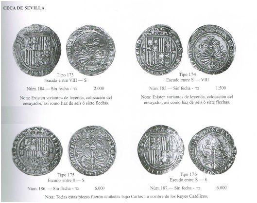 8 reales a nombre de los Reyes Católicos. Sevilla Qs428n
