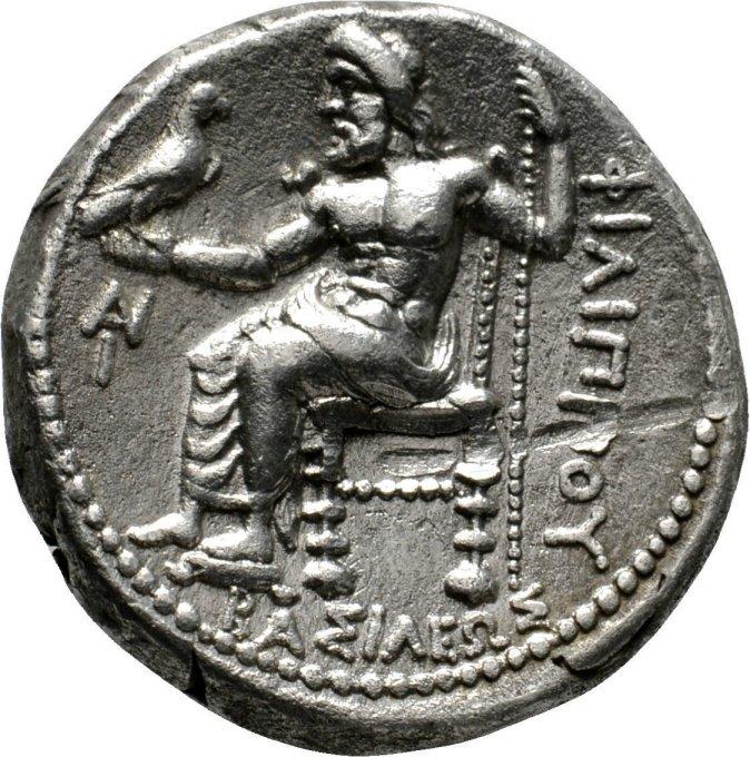 Tetradracma a nombre de Filipo Arrideo, ceca asiática incierta, 323-300 a.C. Wsrdcg