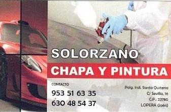 Acuerdo con Chapa y Pintura Solorzano 11uc8ps
