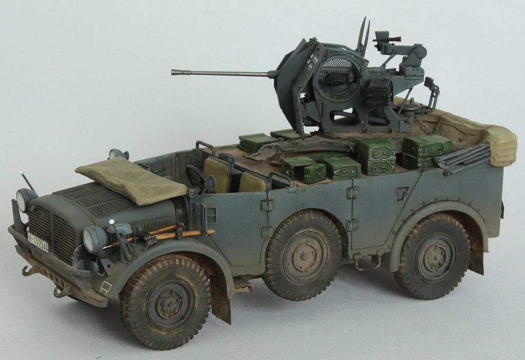 Horch Typ 1a w/2cm Flak 38 конверсия Tamiya+Dragon 1/35 14o6rfk