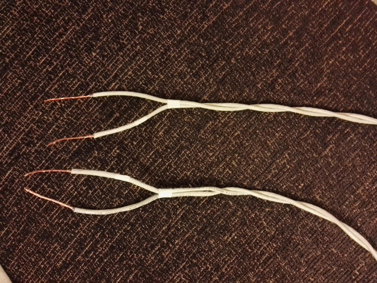 I miei primi cavi di potenza con cavo Cat5 1o3zsy