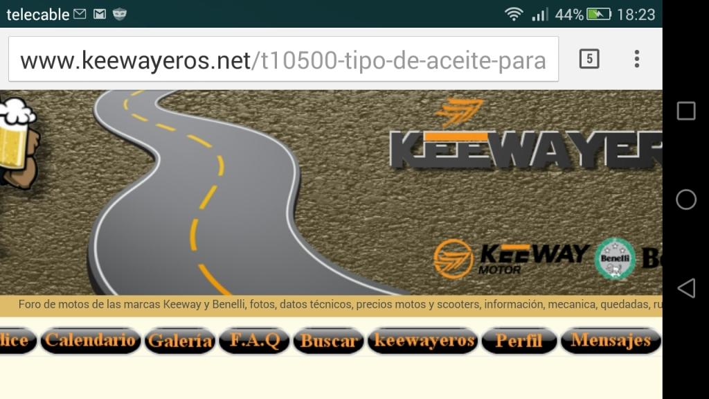 Tipo de aceite para keeway silverblade 125 cc 20h47r