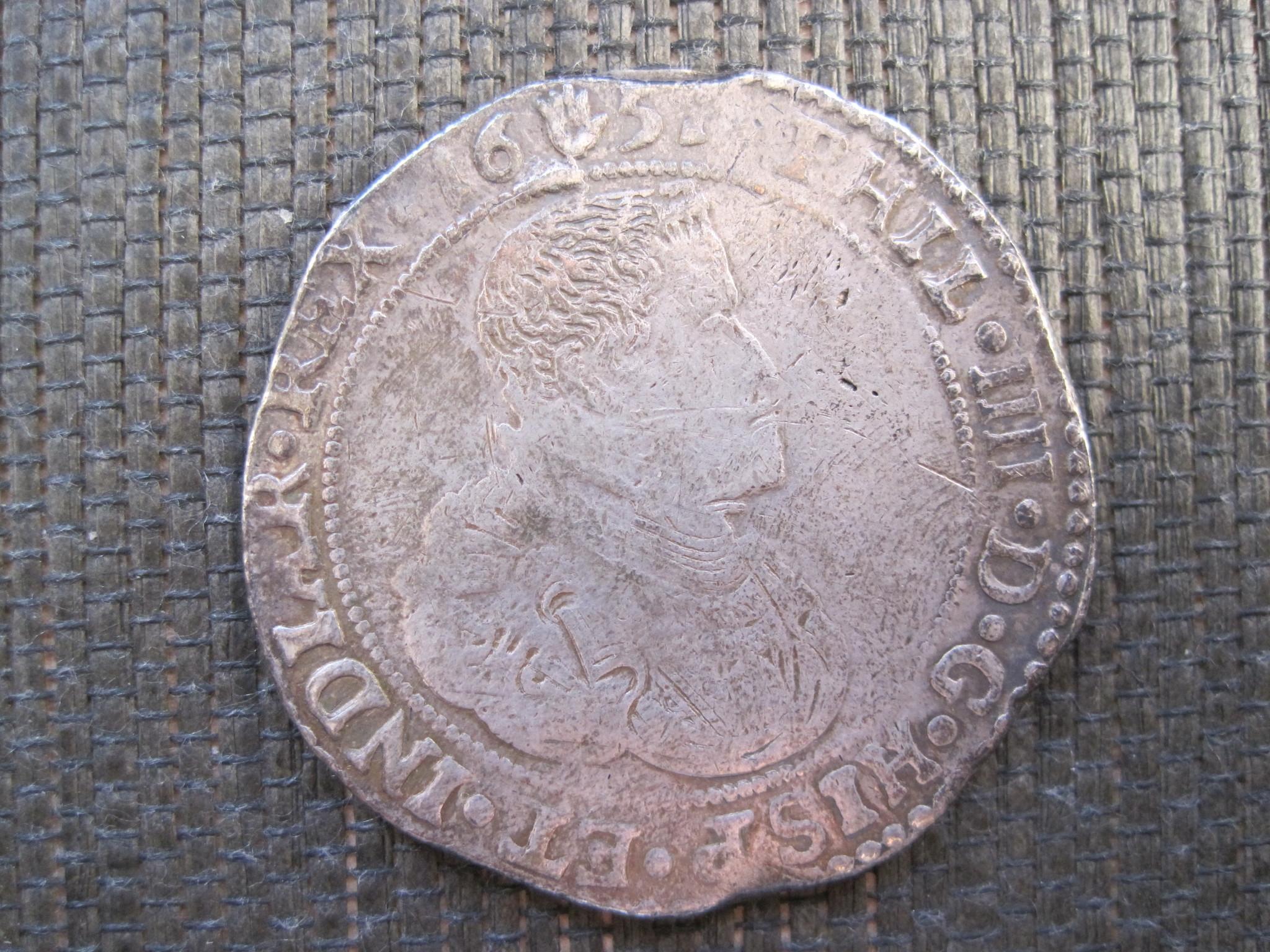 Ducatón de Felipe IV ceca de Amberes, 1651. 21u44w