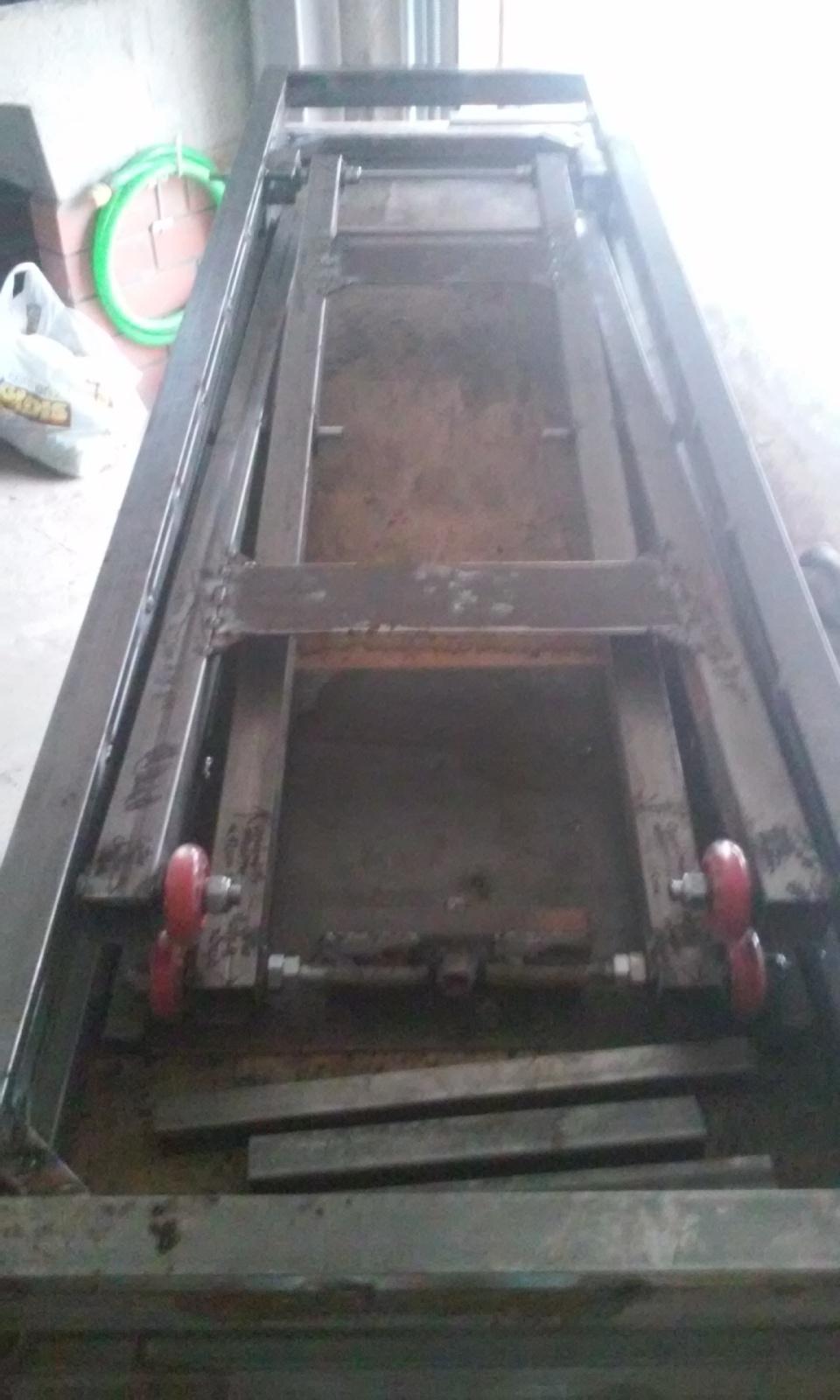 Elevador electrico de motos hecho con taladro.Table lift homemade 23tlb4o