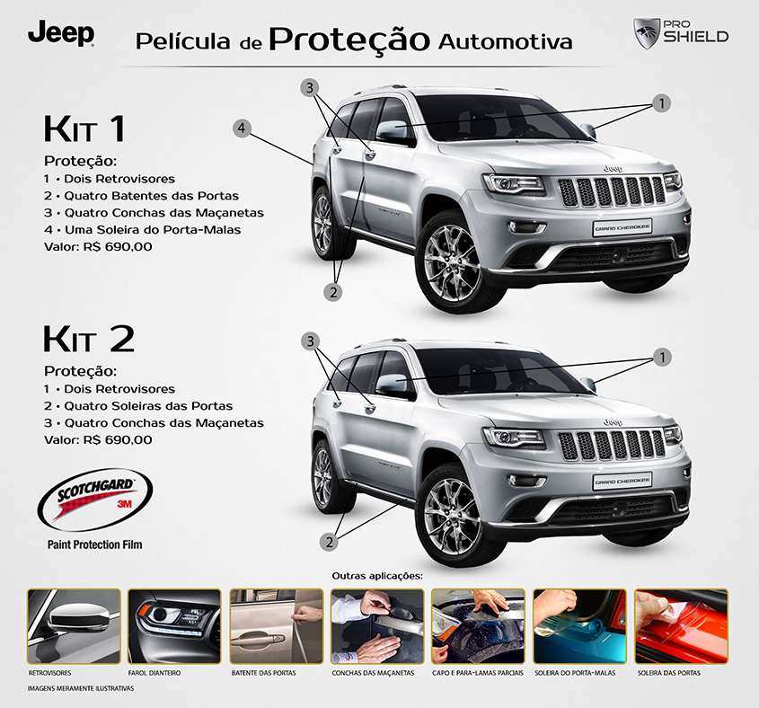3M Scotchgard Paint Protection Film Pro Series 2015 2016 2017 2018 Jeep Renegade