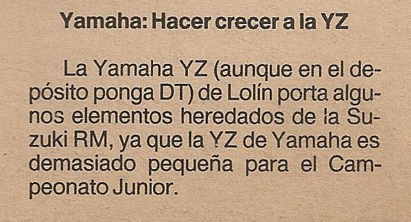 Las Motos de los Juniors 80 cc - 1985 2881jsj