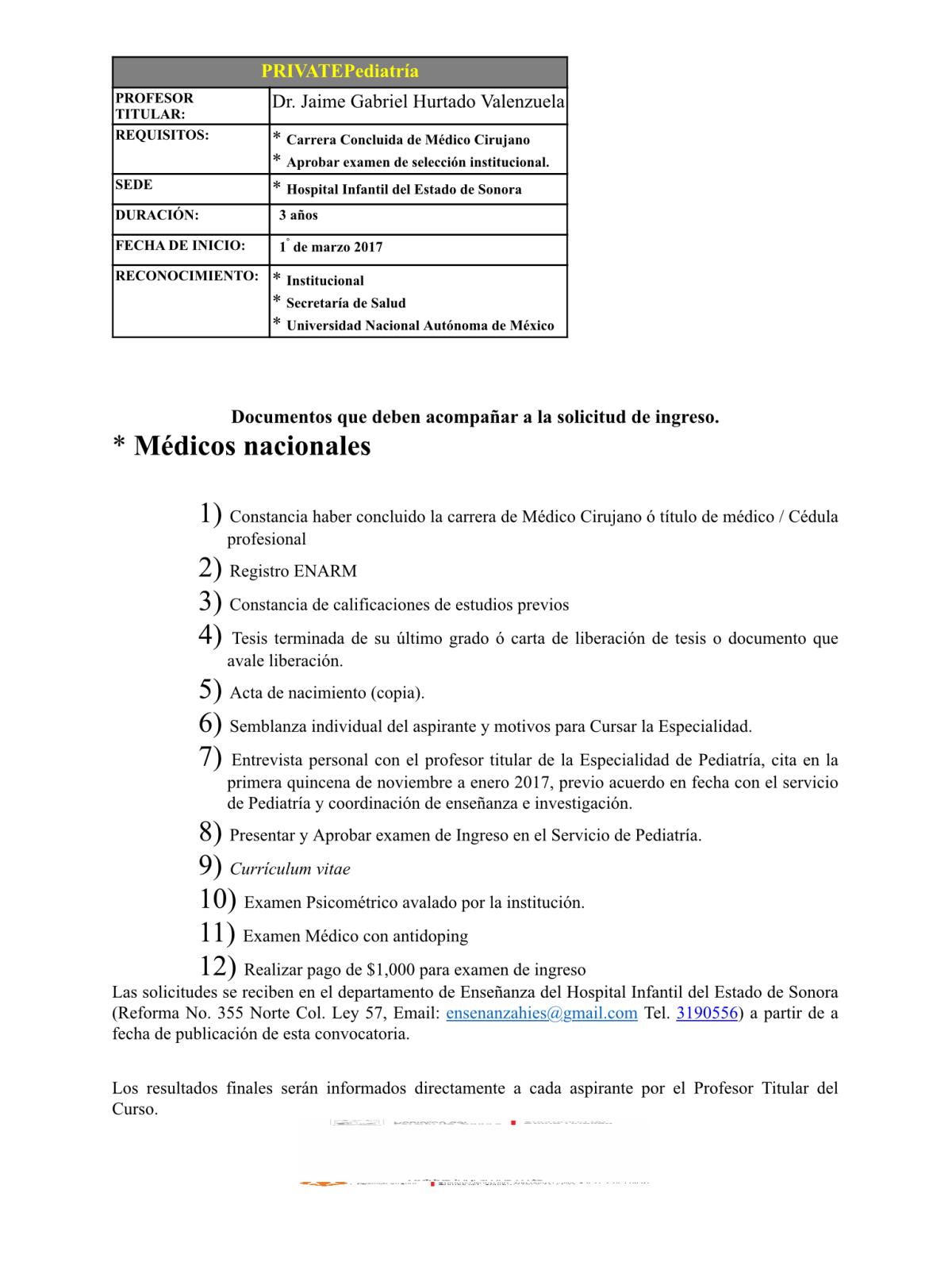 Hospital Infantil del Estado de Sonora. 289lkeb
