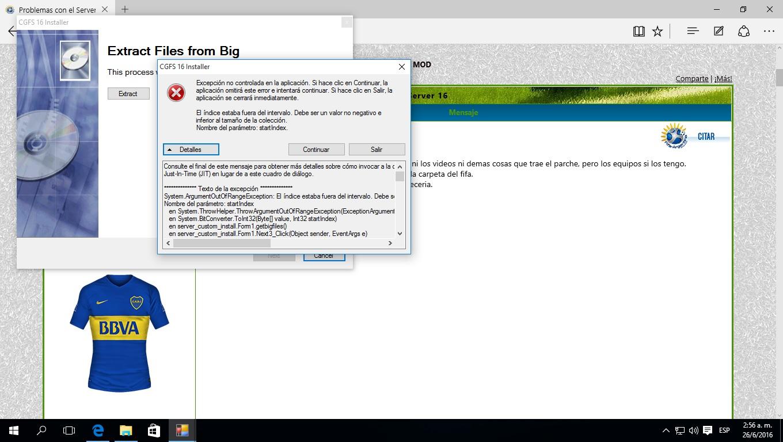 Problemas con el Server 16 28iyg5y