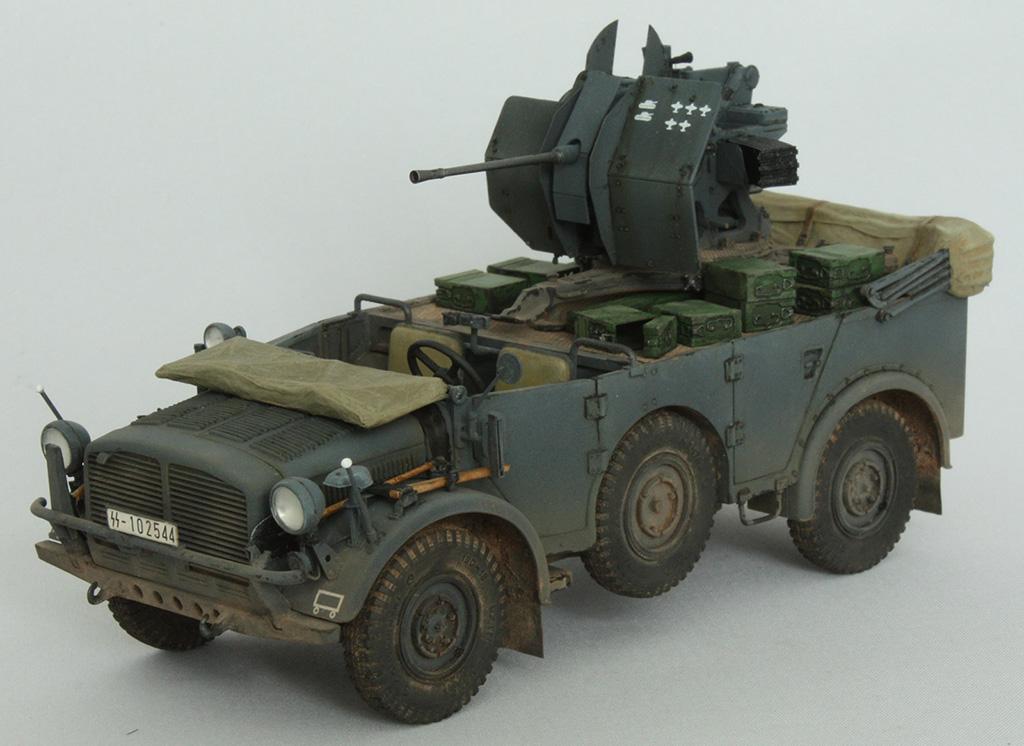 Horch Typ 1a w/2cm Flak 38 конверсия Tamiya+Dragon 1/35 293gk86