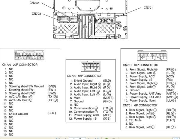 Подключение штатной магнитолы Toyota W58831 29mvl1u