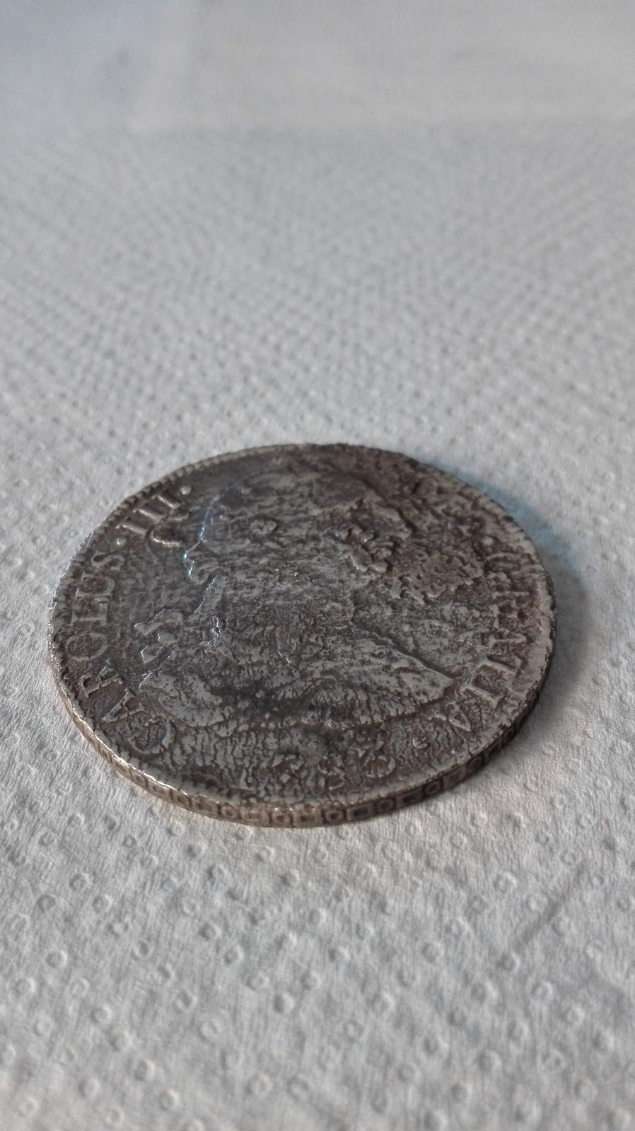 8 Reales. Carlos III. México. 1783. Procedente de El Cazador 2a0dlyd