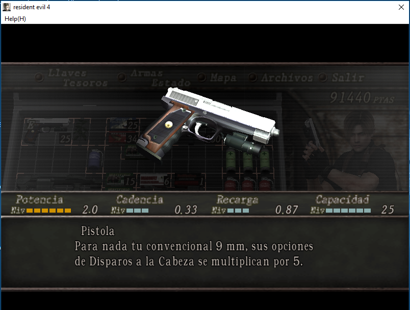 Handgun HD Leon/Wesker 2cg25qg