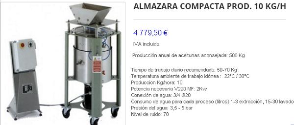 Mini almazara casera, máquina de extracción de aceite. 2elte13