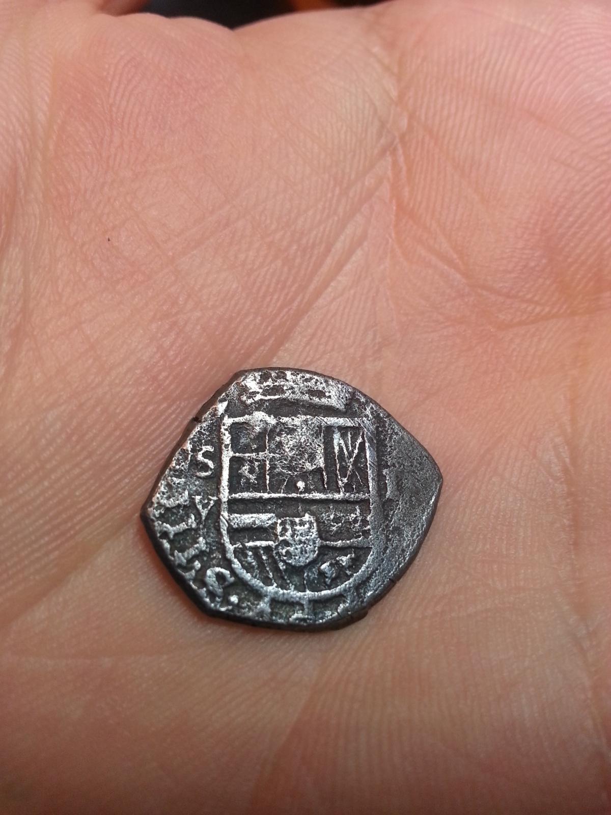 1 real de Felipe III de Sevilla, macuquino. 2gsjplg