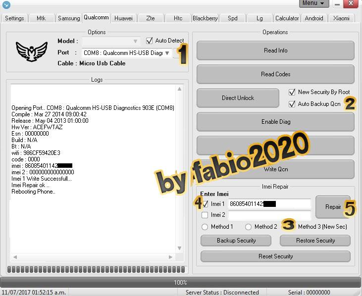 Reparar imei a ZTE Z5s mini NX406E, NX402 o Vtelca Victoria 1 y 2 con Falcon Box Crack 2.1 + Video explicativo 2hz3dyv